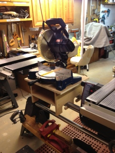 Chop Saw stand mounts on Mark 7 by Doug Reid